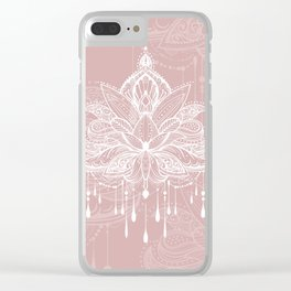 Blush mandala Clear iPhone Case
