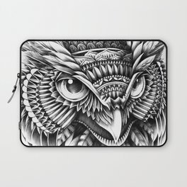 Ornate Owl Head Laptop Sleeve