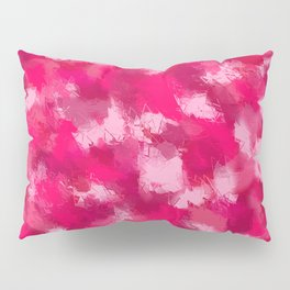 Cubist Valentines Pink Pattern Pillow Sham