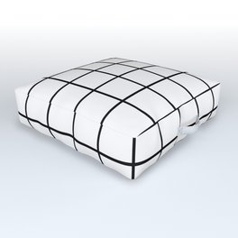 black and white grid pattern Outdoor Floor Cushion