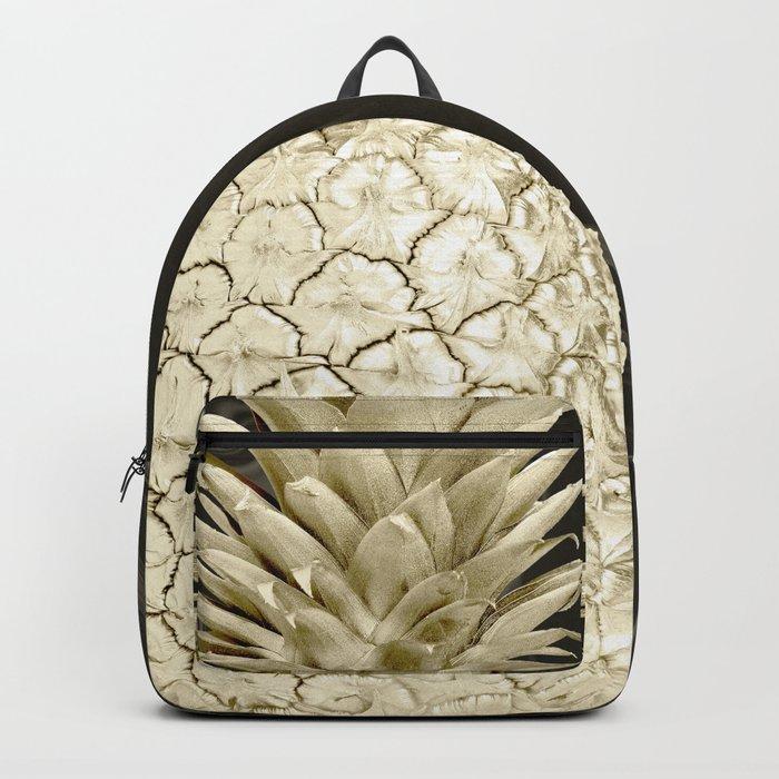 Golden Pineapple Marble Backpack