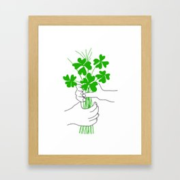 A Bouquet of Good Luck for You Framed Art Print