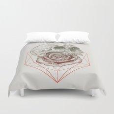 Skull Rose Geo Duvet Cover