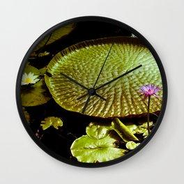 Life Upon A Lily Pad Wall Clock