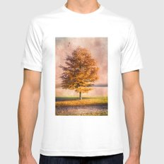 A sunny autumn day White Mens Fitted Tee MEDIUM