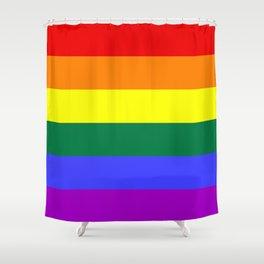 Gay Pride Flag Shower Curtain