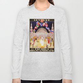 Seville Hispano American Expo 1929 art deco ad Long Sleeve T-shirt
