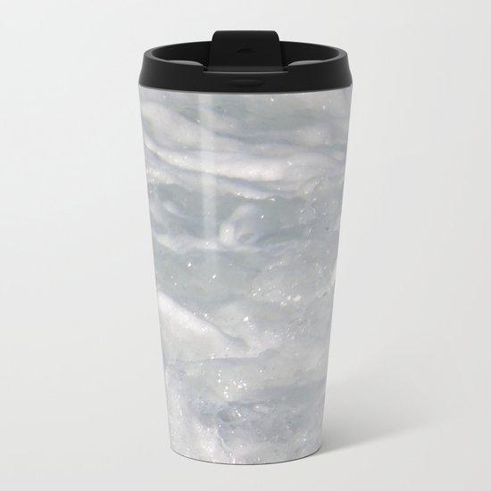 TEXTURES: Laguna Beach Sea Foam #1 Metal Travel Mug