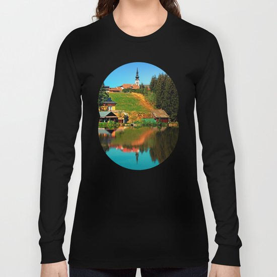 A village in the mirror Long Sleeve T-shirt