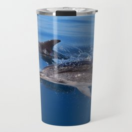 Mother and baby spotted dolphin Travel Mug