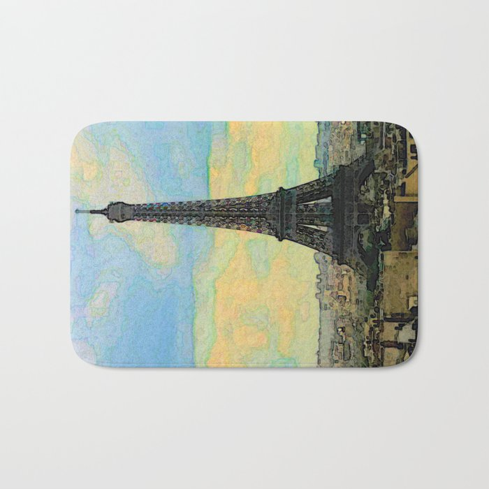 Watercolor Dream of Paris Bath Mat