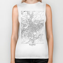 Taipei White Map Biker Tank