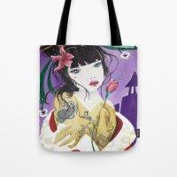 mulan Tote Bags featuring Mulan by marmaseo