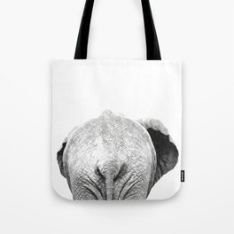 Black and white elephant animal jungle Tote Bag