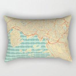 Oslo Map Retro Rectangular Pillow