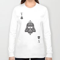 card Long Sleeve T-shirts featuring Darth Vader Card by Sitchko Igor