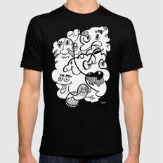 The Doodle Bunch Mens Fitted Tee MEDIUM Black