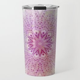 star mandala in pink mood Travel Mug