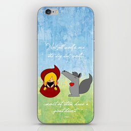 Little Red Riding Hood & Lovely Wolf ♥ iPhone Skin