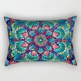 Kaleidoscopic Mandala Rectangular Pillow