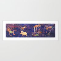 Art Print featuring Space Pals by Kate Solow