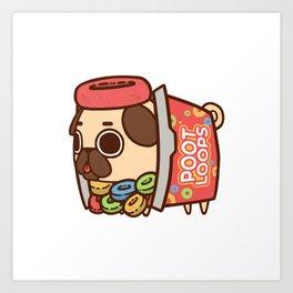 Puglie Poot Loops Art Print