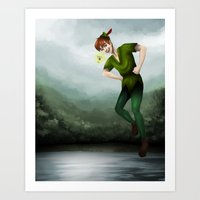 peter pan Art Prints featuring Peter Pan by Destiny Jade