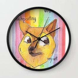 Much Art Doge Wall Clock