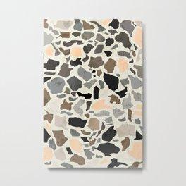 Terrazzo / Poster, scandinavian, art, art print, drawings, paintings, illustration, marble, pastel, Metal Print