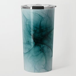 Dark Flower Fractal Travel Mug
