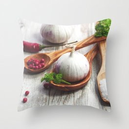 Light spices for the Kitchen Throw Pillow