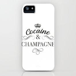 Cocaine & Champagne Drugs Rave Techno Coke Molly Party Retro design iPhone Case