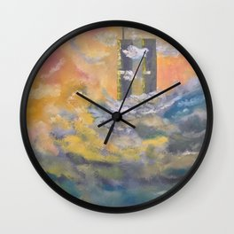 Twin Towers rebuilt in Heaven Wall Clock