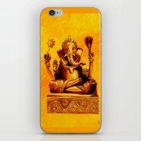 ganesha iPhone & iPod Skins featuring Ganesha by Ninamelusina