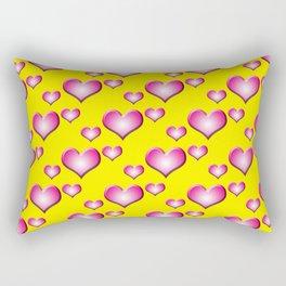 herzen collage Rectangular Pillow