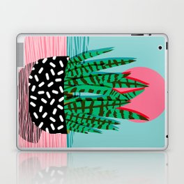 Edgy - wacka potted indoor house plant hipster retro throwback minimal 1980s 80s neon pop art Laptop & iPad Skin