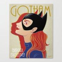 gotham Canvas Prints featuring Gotham by SatrunTwins