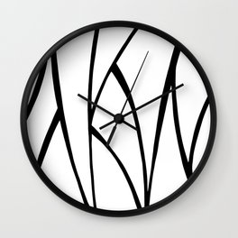 Modern Sweeping Line Art Print Wall Clock