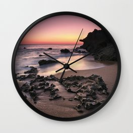Roche Reefs At Sunset. Cadiz Wall Clock