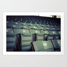 Wrigley Field Stadium Seats 1 Art Print