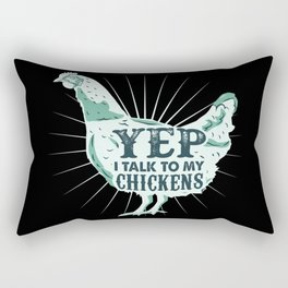 Funny Chicken Rooster Rectangular Pillow