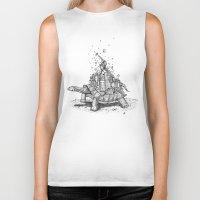 tortoise Biker Tanks featuring Tortoise Town by Brandon Dover (Braniel)