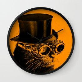 Steampunk Mojo in a top Hat Wall Clock