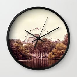 Whitehall & the London Eye from St James's Park Wall Clock
