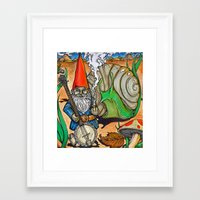 gnome Framed Art Prints featuring Gnome by Steven Suiter