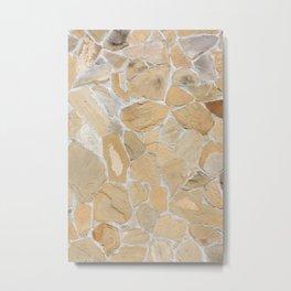 Stony pattern Metal Print