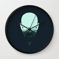 heisenberg Wall Clocks featuring Heisenberg by filiskun