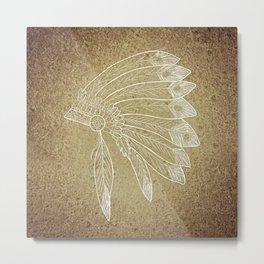 Native American Headdress Metal Print
