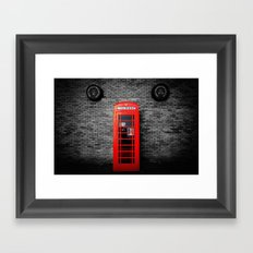 Old Bushmills Phone Box Framed Art Print