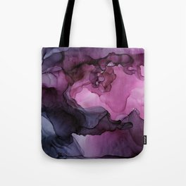 Abstract Ink Painting Ethereal Flowing Watercolor Nebula Tote Bag